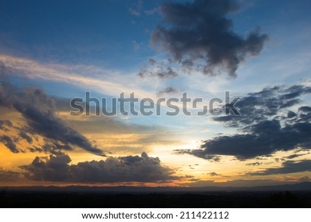Abstract sky texture on wall  background - stock photo