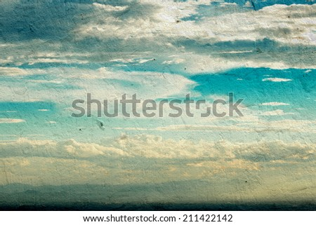 Abstract sky texture on wall  background