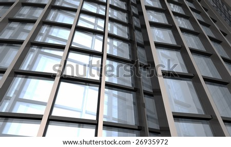 Abstract skyscraper - stock photo