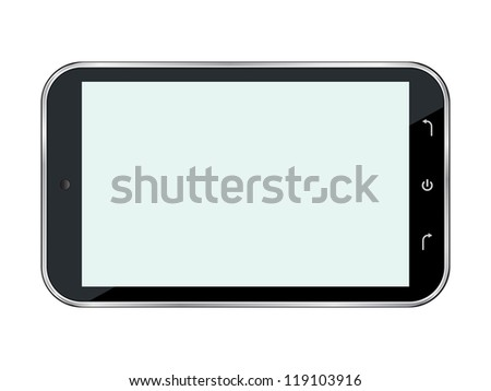 Abstract smartphone. Raster version of vector illustration. - stock photo