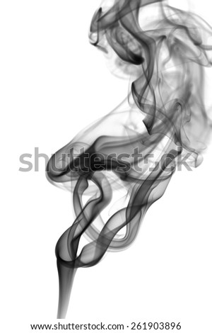 Abstract smoke heart isolated on white background  - stock photo