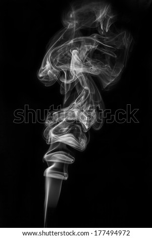 abstract smoke isolated black background