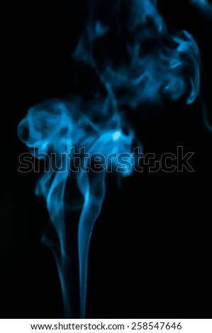 Abstract smoke isolated in black background - stock photo