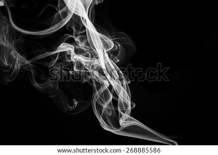 Abstract smoke isolated on black background - stock photo