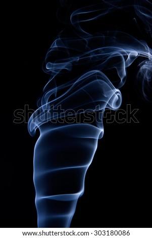 Abstract smoke isolated on black background. Texture smoke - stock photo