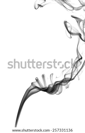 Abstract smoke isolated on white - stock photo