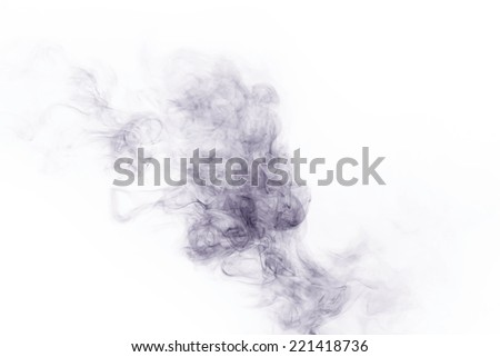 Abstract smoke isolated on white background - stock photo