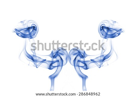 Abstract smoke on a white background