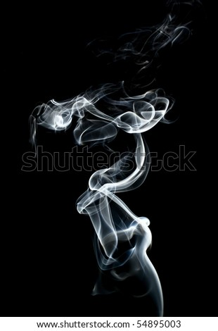 abstract smoke  on black - stock photo