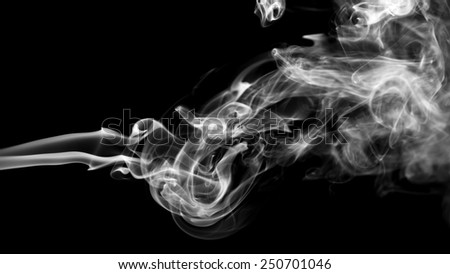Abstract smoke on black background. - stock photo