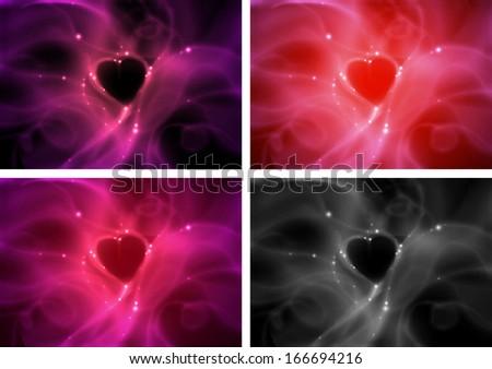 Abstract  smoky heart,magic. - stock photo