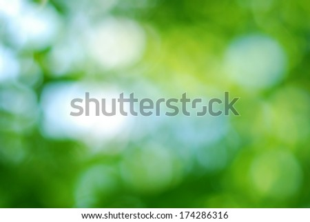 Abstract smooth green bokeh background - stock photo
