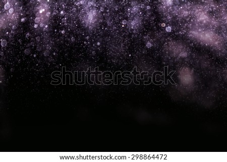 abstract snow bokeh background. - stock photo