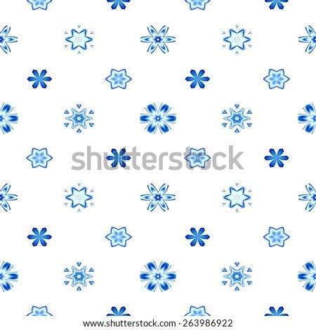 Abstract snowflake pattern. Texture background. Seamless illustration. - stock photo