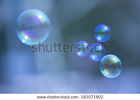 Abstract soap bubble background,element for designers - stock photo