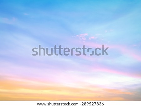 Abstract soft and beautiful sky textured background: yellow pink and blue patterns. - stock photo