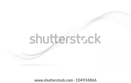 abstract soft smoke wave on white - motion graphic background - stock photo