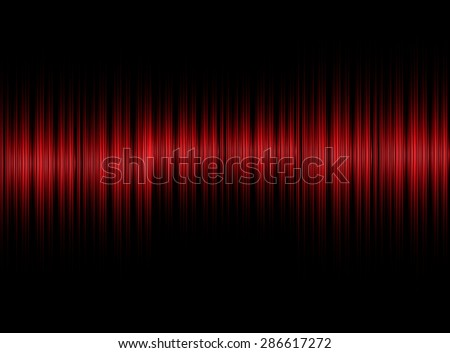 Abstract sound red equalizer background - stock photo