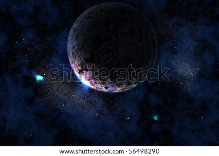 abstract space and star background