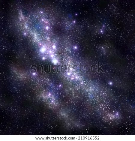 Abstract space background with stars and starfield, nebula pattern - stock photo