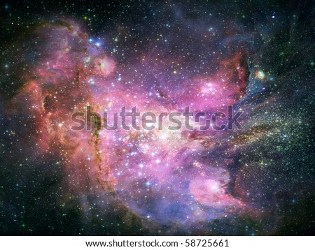 Abstract space fantasy background - stock photo