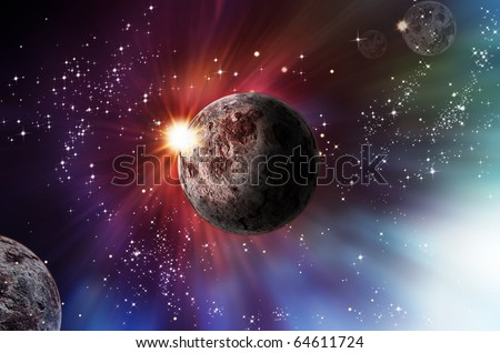 Abstract space for background