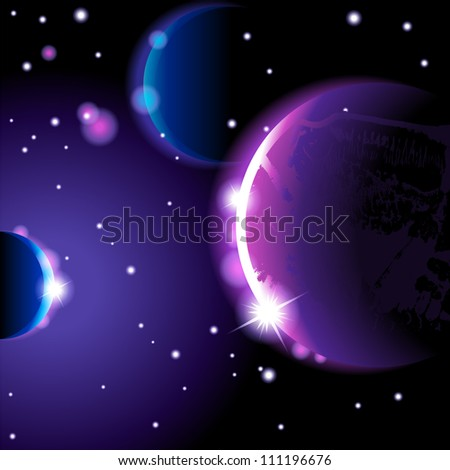 Abstract space landscape