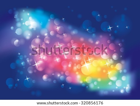 Abstract sparkle lights and stars background