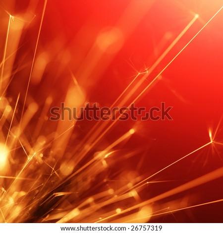 abstract sparkler - stock photo