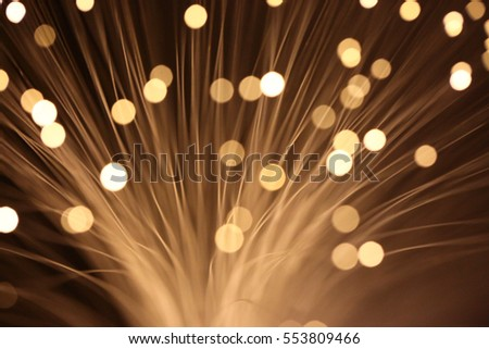 Abstract sparks of light, fiber wire optics