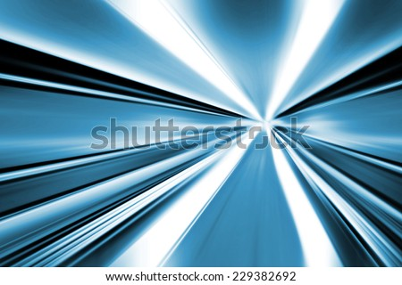 Abstract speed lines background, radial motion blur / zooming effect
