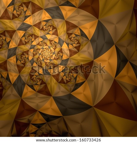 Abstract spiral art backdrop  on black background. - stock photo
