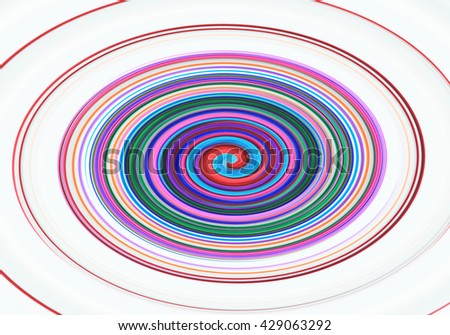 Abstract spiral background, colorful Twirl - stock photo