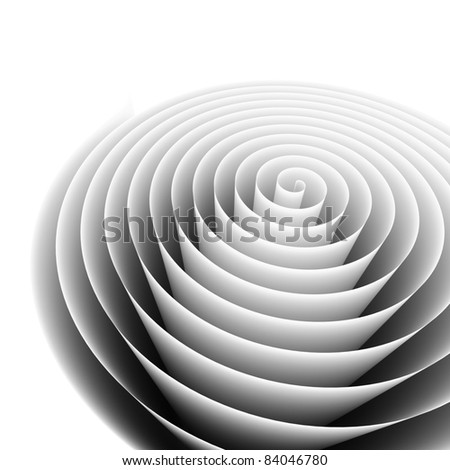 Abstract spiral background. 3d rendered image - stock photo