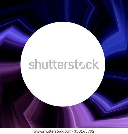 Abstract spiral background design with white circle.