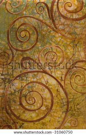 abstract spiral depicted on silk, art - stock photo