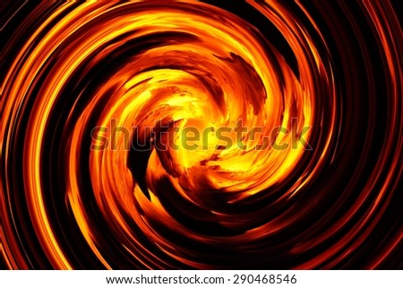 abstract spiral flame texture for background used - stock photo