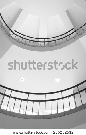 Abstract spiral stairs infinity ending for modern interior design and architecture - stock photo