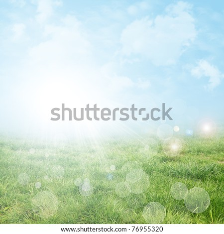 Abstract spring and summer background - stock photo