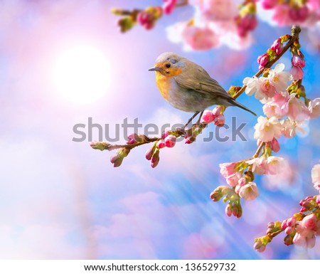 abstract Spring beautiful landscape background - stock photo