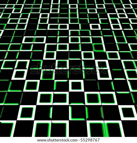 Abstract square background of green color - stock photo