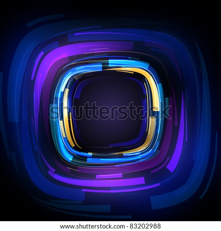 Abstract square shape background - stock photo