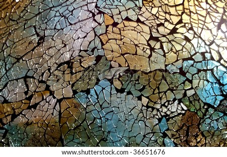 Abstract stained glass - stock photo