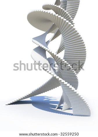 Abstract staircase design. For other similar images from the series, please, check my portfolio. - stock photo