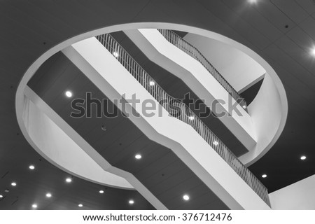 Abstract stairway in modern interior - stock photo
