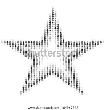 Abstract star halftone design element illustration