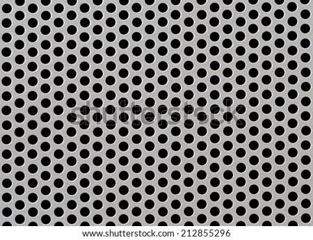 Abstract Steel or Metal Textured Pattern with Round Cells As Industrial Background - stock photo