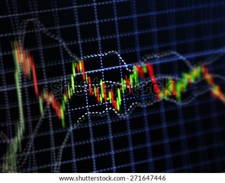 Abstract stock market diagram candle bars trade. - stock photo