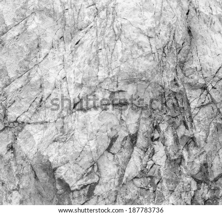 Abstract stone texture with cracked, black and white. - stock photo