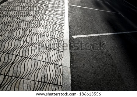 abstract street detail - stock photo